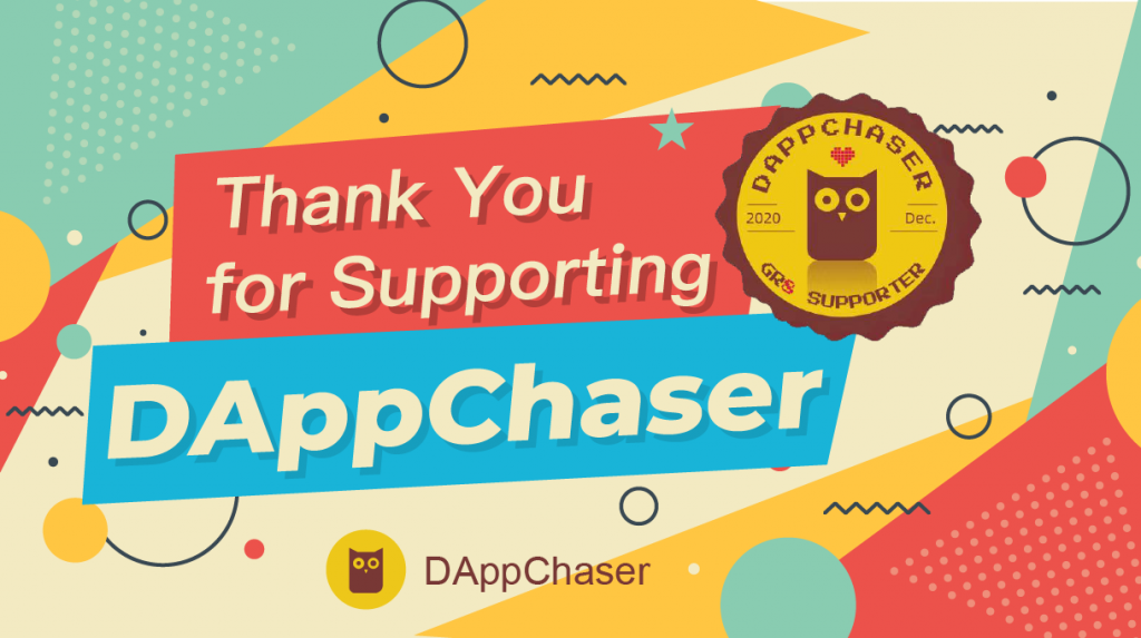 DAppChaser GR8 Supporter Badge (EN)